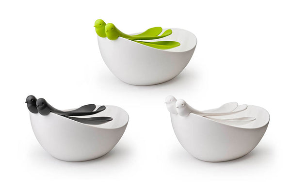 Qualy Sparrow Salad Bowl with Servers WH