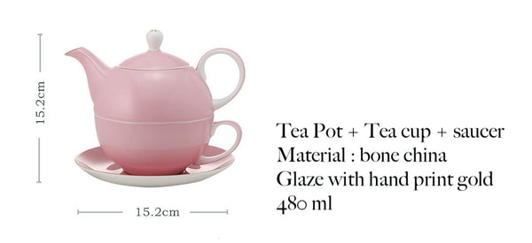 VitaminME Bone China Tea Set - Gold Yellow