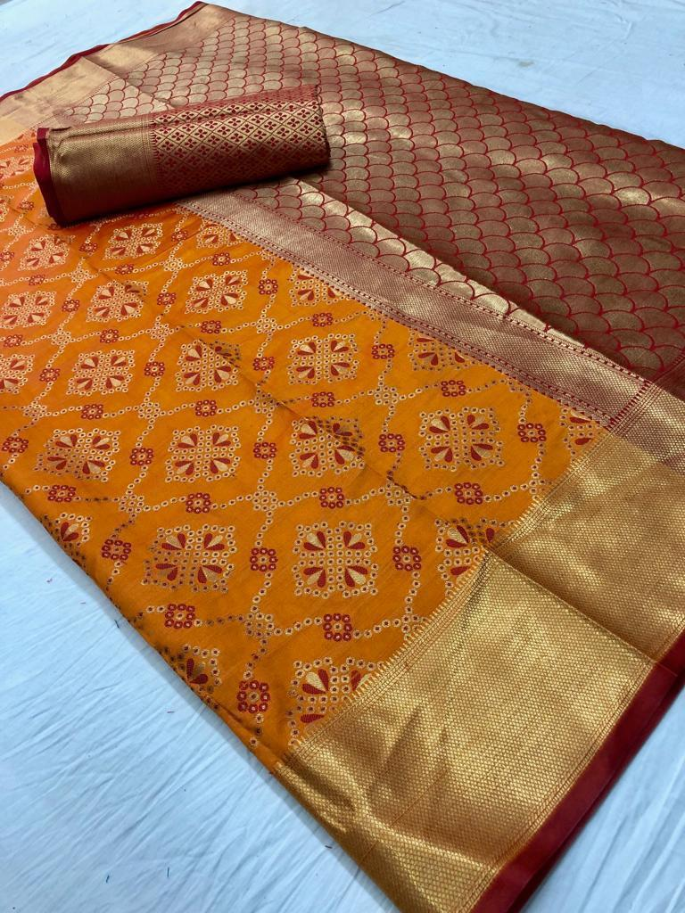 Orignal Banarasi Musturdcolour Silk Saree