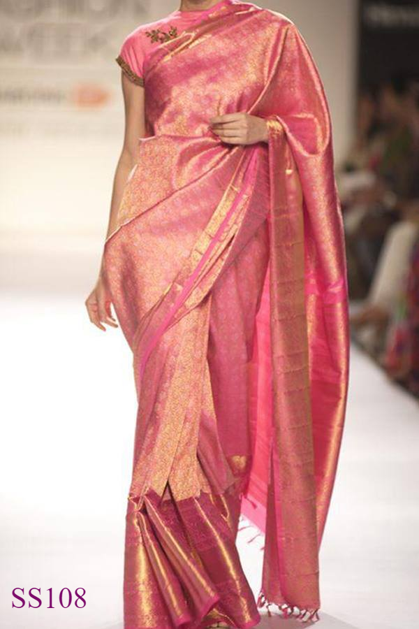 Pretty Red Color Soft Silk Designer Saree