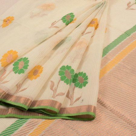 Latest Light Pink color Linen Designer Saree