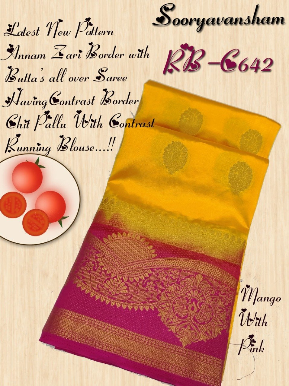 INOVATIVE YELLOW COLOUR SILK KANJIVARM SAREE - M192