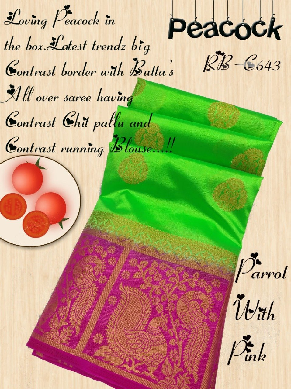 INOVATIVE GREEN COLOUR SILK KANJIVARM SAREE - M195
