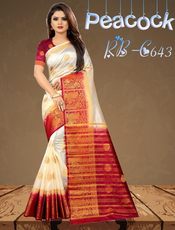 INOVATIVE WHITE COLOUR SILK KANJIVARM SAREE - M196