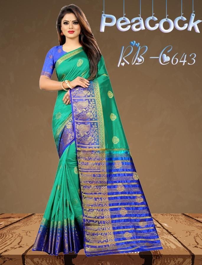 INOVATIVE GREEN COLOUR SILK KANJIVARM SAREE - M199