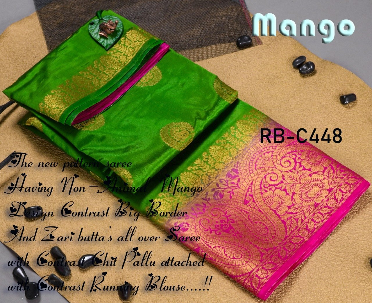 INOVATIVE GREEN COLOUR SILK KANJIVARM SAREE - M233