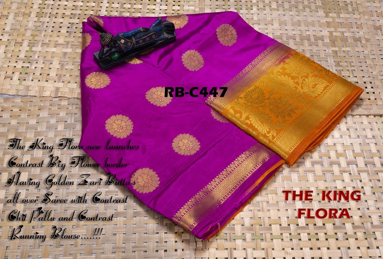 INOVATIVE PURPLE COLOUR SILK KANJIVARM SAREE - M242