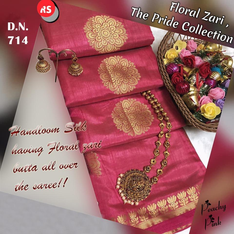 INOVATIV PINK COLOUR SILK KANJIVARM SAREE - M66
