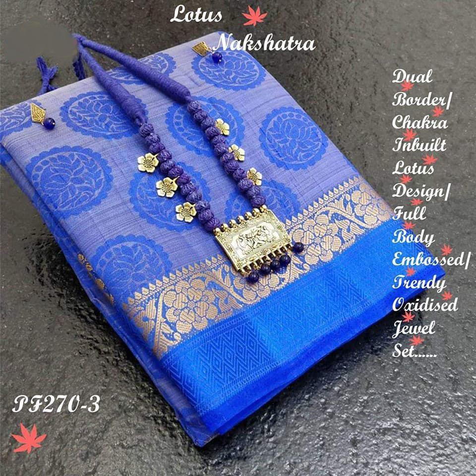 INOVATIV BLUE  COLOUR SILK KANJIVARM SAREE - M74