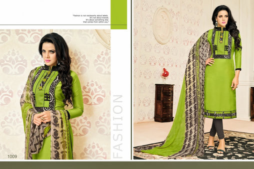 Adhesive  Green color Salwar Suit