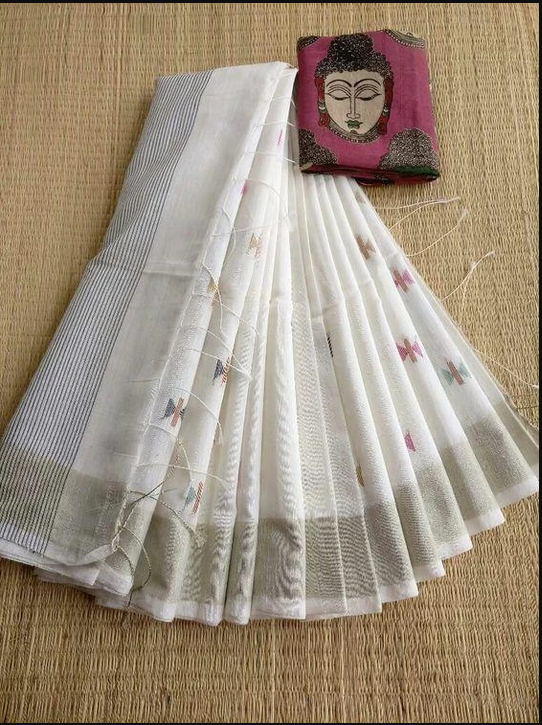 DESIGNER LINEN DIGITAL PRINTED SAREE