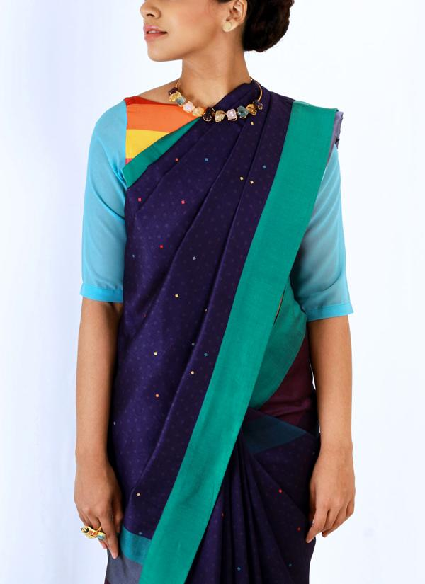Fancy Multi Color Soft Silk Designer Saree