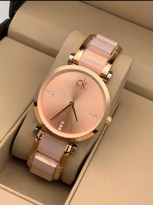 VK ROSE GOLD DIAL ANALOG Watch - For Girls