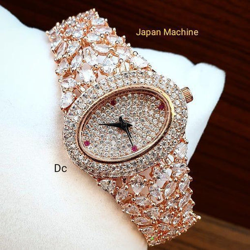 MRS.ROSEGOLD DIAMOND ANALOGY Watch - For Girls