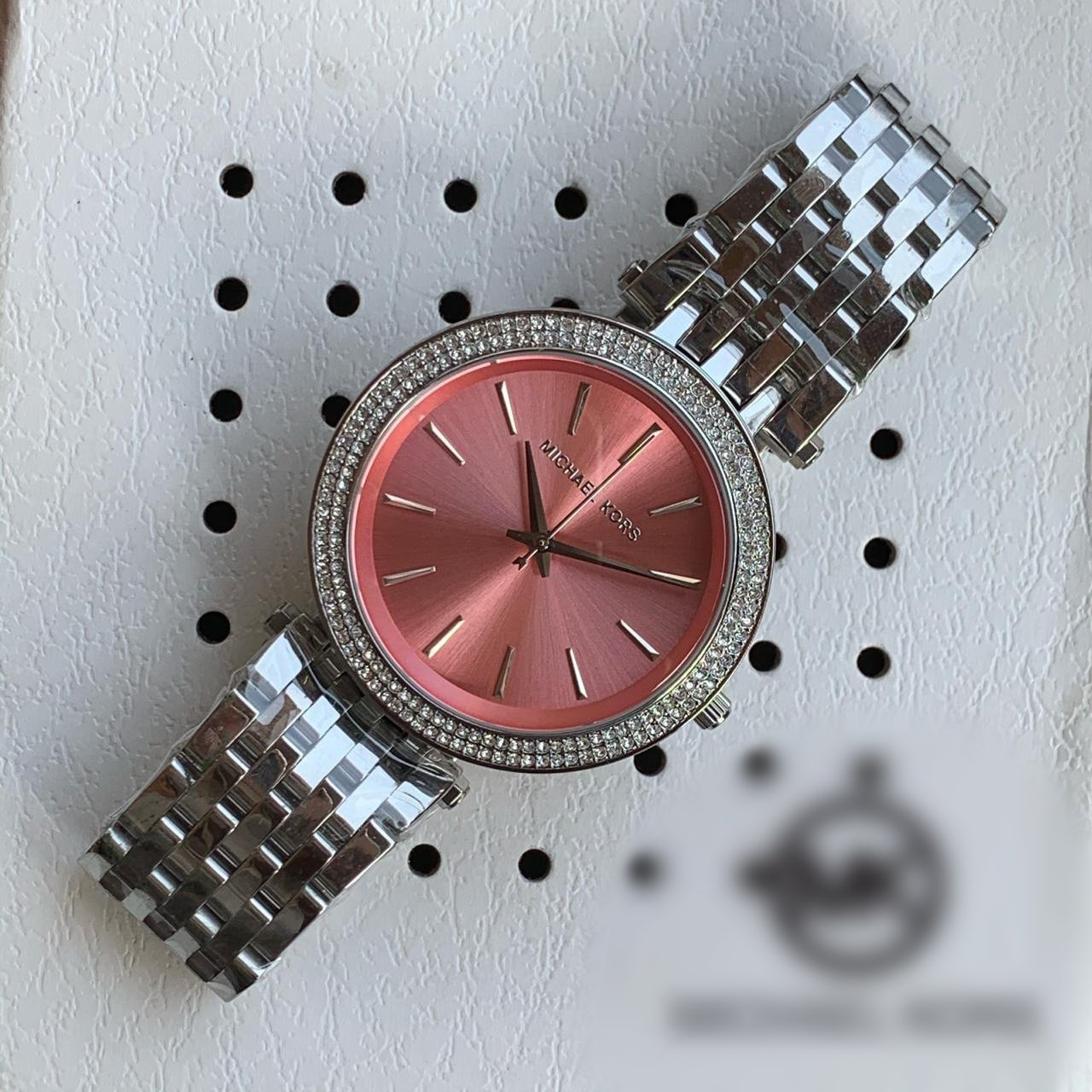 MRS.PINK DIAL SILVER STRAP ANALOGY Watch - For Girls