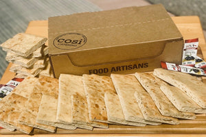Variety Baking Box: Bake at Home Original Flatbread (3 loaves) and Multigrain Flatbread (3 loaves), Organic Olive Oil (6 Pouches), and Kosher Salt (4 oz) - Così Home Delivery