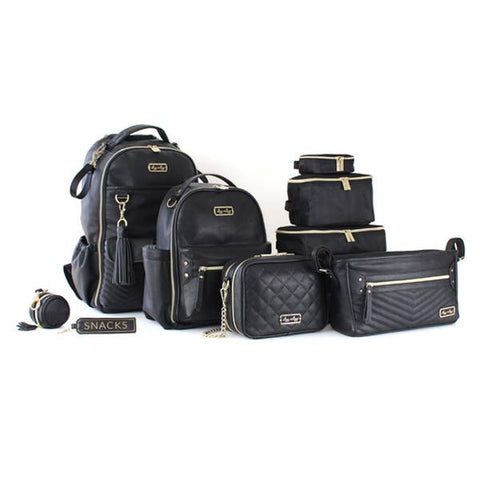 Image of Itzy Ritzy Black Double Take Crossbody Diaper Bag