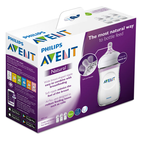 Image of Phillips Avent - Natural Bottle 3-Pack