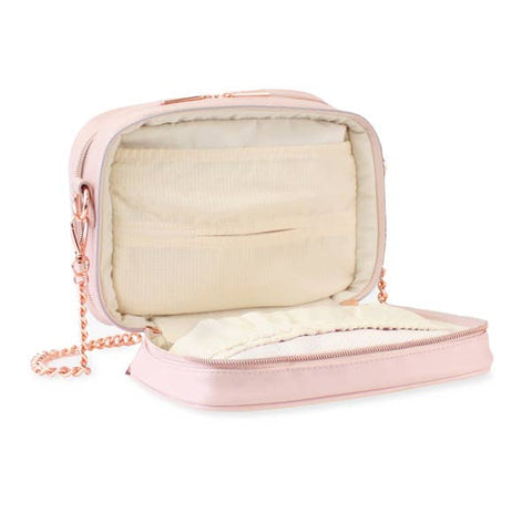 Image of Itzy Ritzy Blush Double Take Crossbody Diaper Bag
