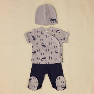 Itty Bitty Baby NICU Friendly Navy Moose Layette Set