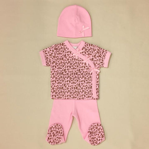 Itty Bitty Baby NICU Friendly Pink Cheetah Layette Set