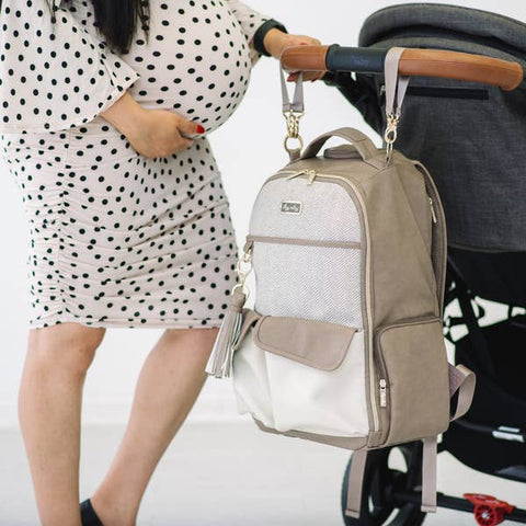Itzy Ritzy Vanilla Late Boss Diaper Bag