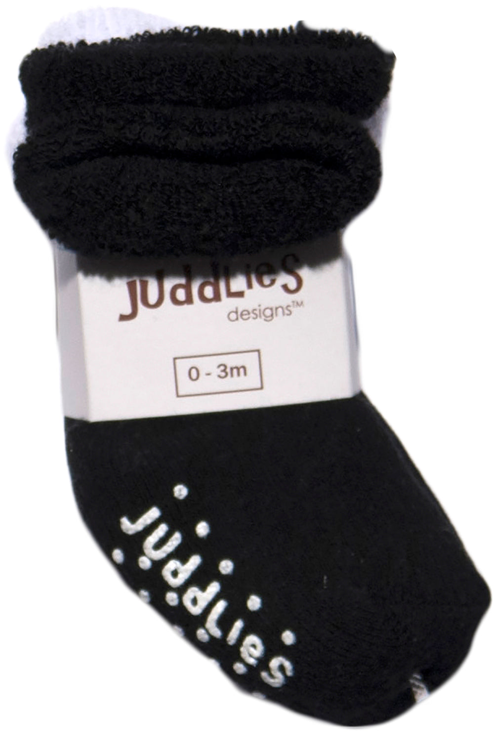 2pk Infant Socks (Black & White)