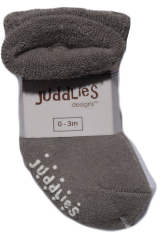 Image of 2pk Infant Socks - Grey & White