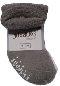 2pk Infant Socks - Grey & White