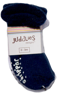 2pk Infant Socks - Navy & White