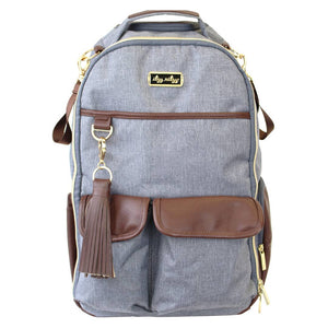 Itzy Ritzy Heather Gray Boss Diaper Bag