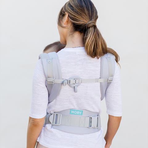 Image of MOBY Baby Carrier (Glacier Grey)