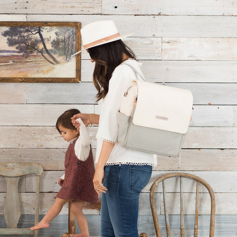 Boxy Backpack in Birch/Stone