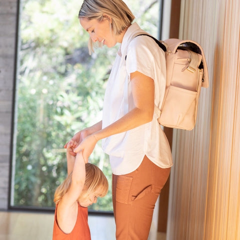 Image of Boxy Backpack in Blush Leatherette