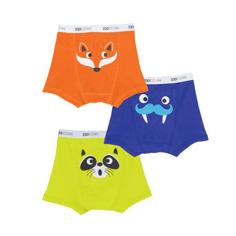 Boys Boxer - Fox, Walrus & Raccoon 3PK