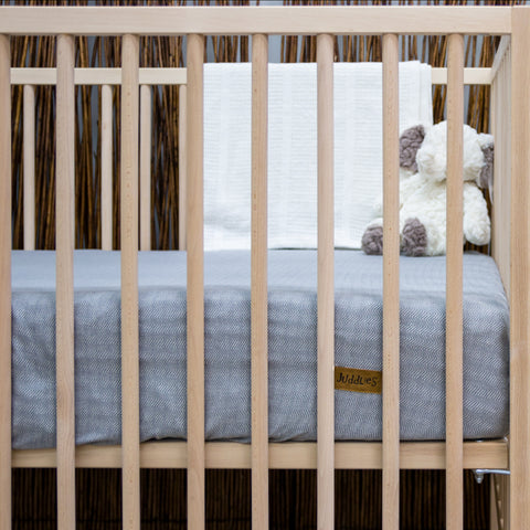 Cottage Collection Crib Sheet - Driftwood Grey