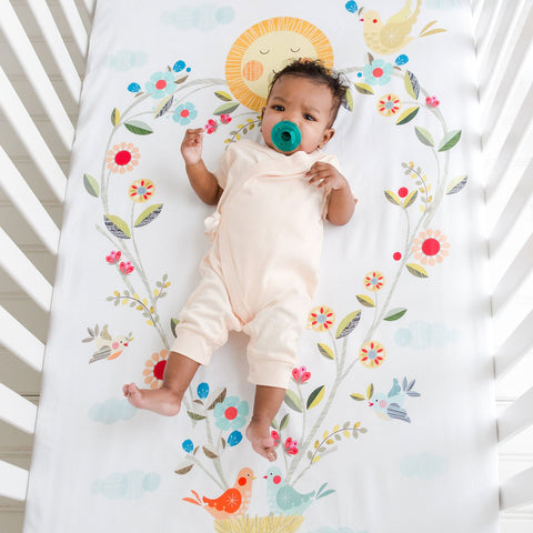 Rookie Humans Love Blooms Crib Sheet