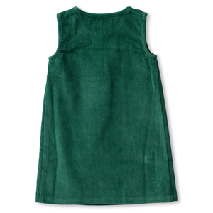Embroidered Corduroy Dress - Botany