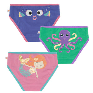 Girls Underwear - Fish, Octopus & Mermaid 3PK