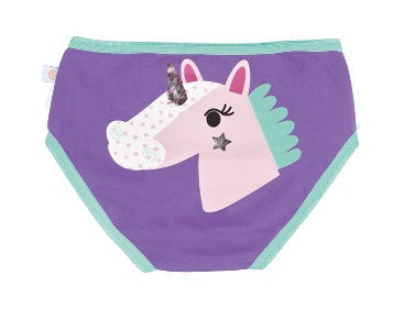 Girls Underwear - Unicorn, Porcupine & Fox 3PK