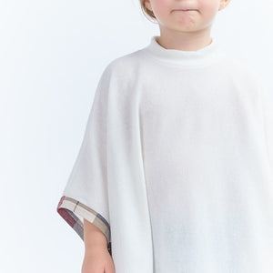KIDS SHORT SLEEVE SOLID PONCHO