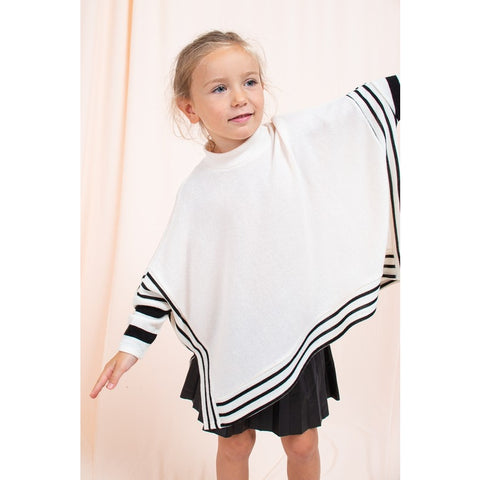Image of KIDS SOLID STRIPED PONCHO