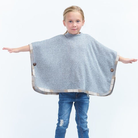 Image of KIDS SHORT SLEEVE SOLID PONCHO
