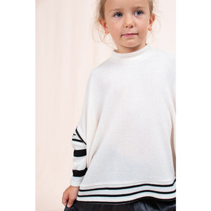 KIDS SOLID STRIPED PONCHO