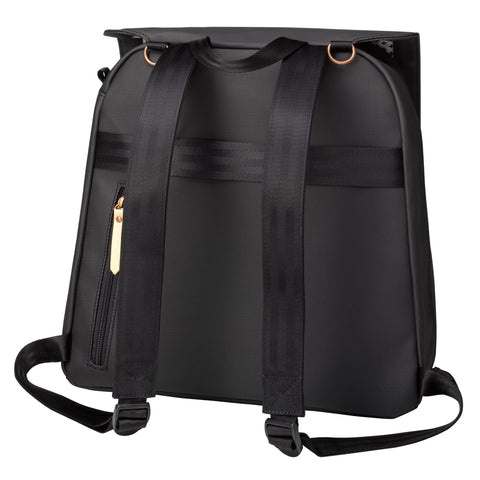 Meta Backpack in Black Matte Canvas
