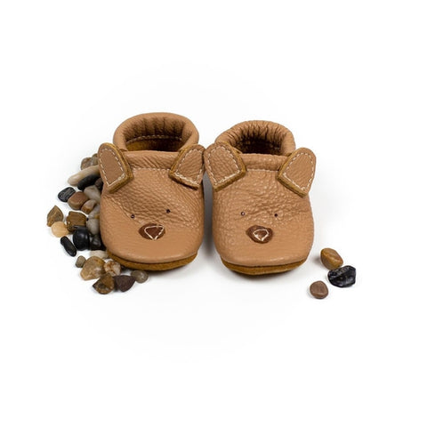 Oat Bear Cute Critters Leather Shoes