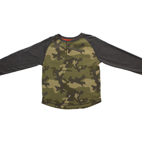 Image of Olive Thermal Camo Henley
