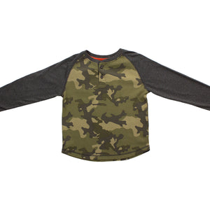 Olive Thermal Camo Henley