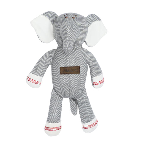 Organic Cottage Collection Rattle Elephant- Driftwood Grey