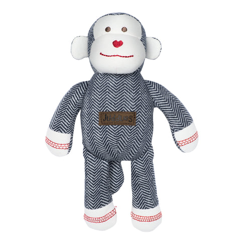 Image of Organic Cottage Collection Rattle Monkey- Lake Blue